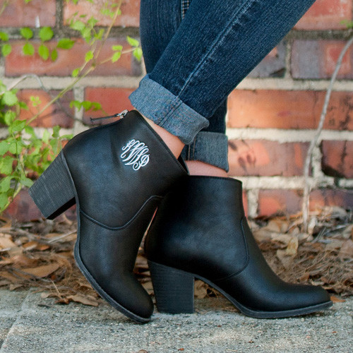 Ashlyn Black Ankle Boots