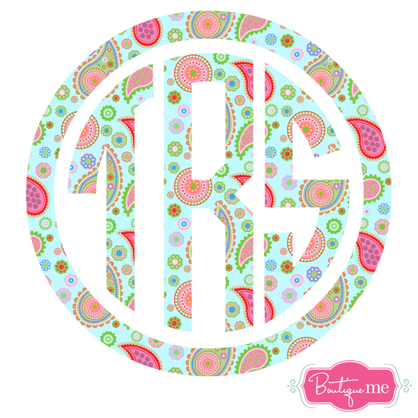 Lilly Paisley Monogram Decal