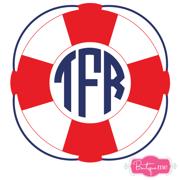 Life Preserver Monogram Decal