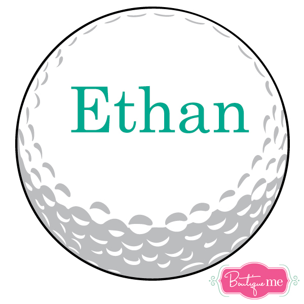 Personalized Golf Ball Vinyl Decal