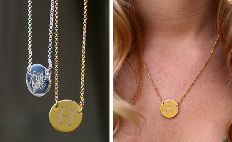 Monogrammed Charm Necklaces