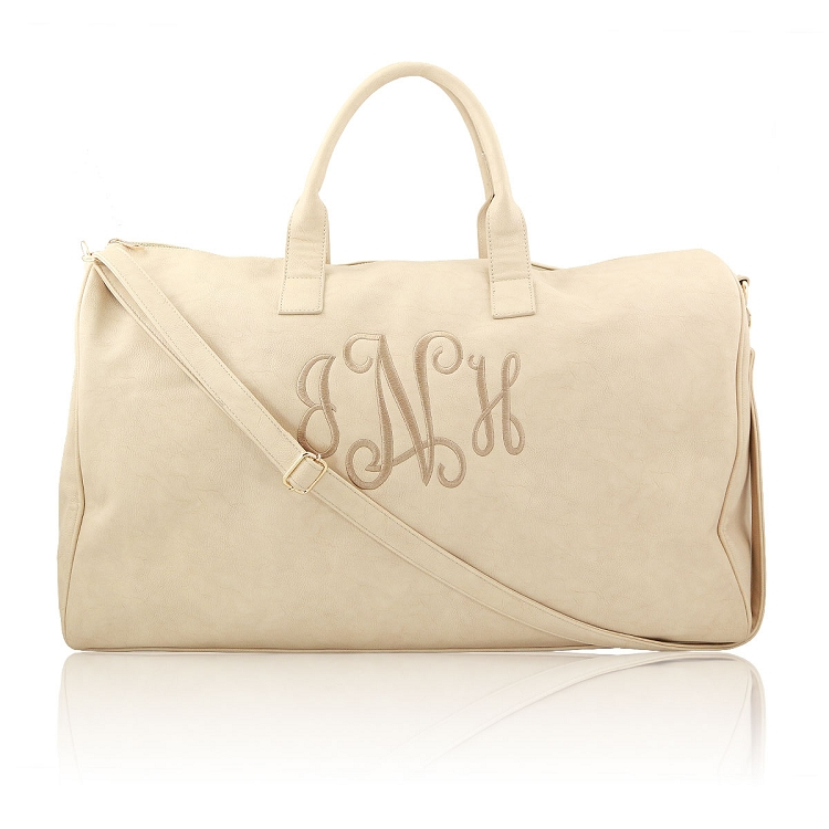Luxe Large Duffle Bag - Beige