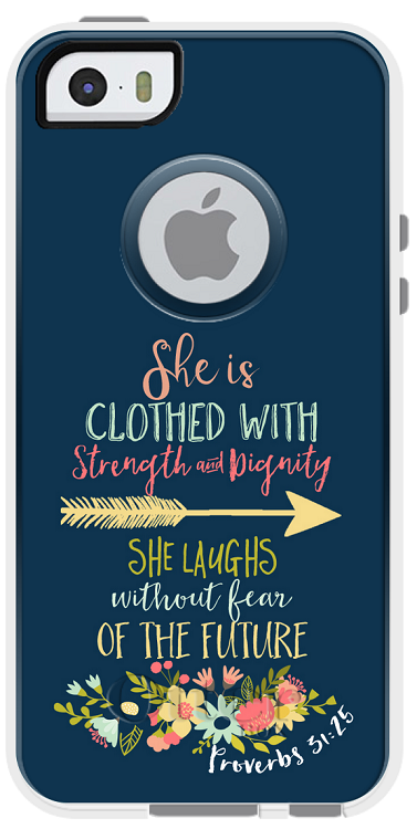 Proverbs 31:25 Otterbox Commuter iPhone 5/5s Cases