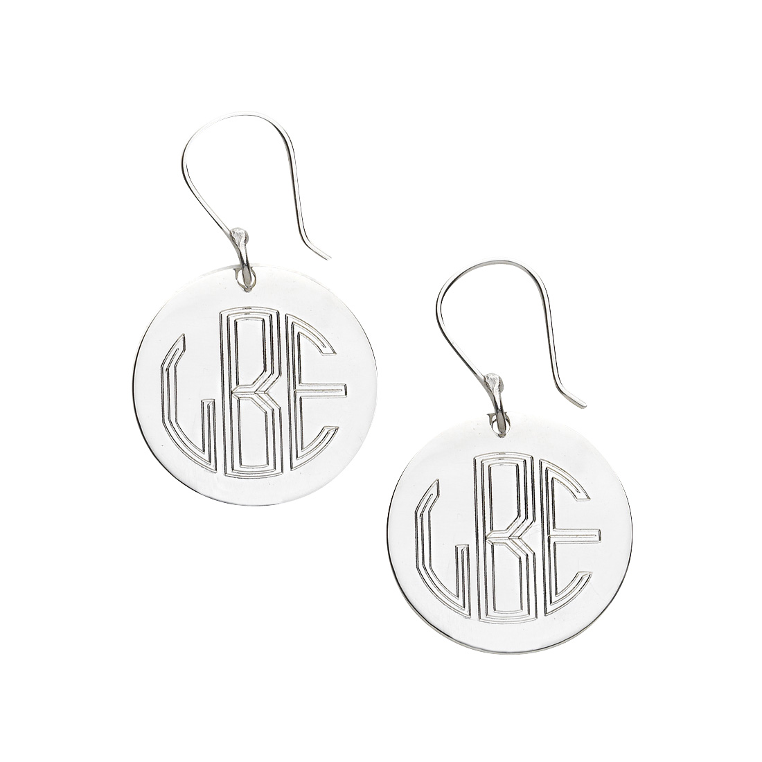 Silver Round French Wire Earrings