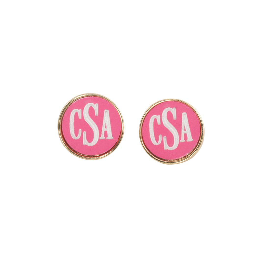 Hot Pink Josie Earrings - Gold Plated