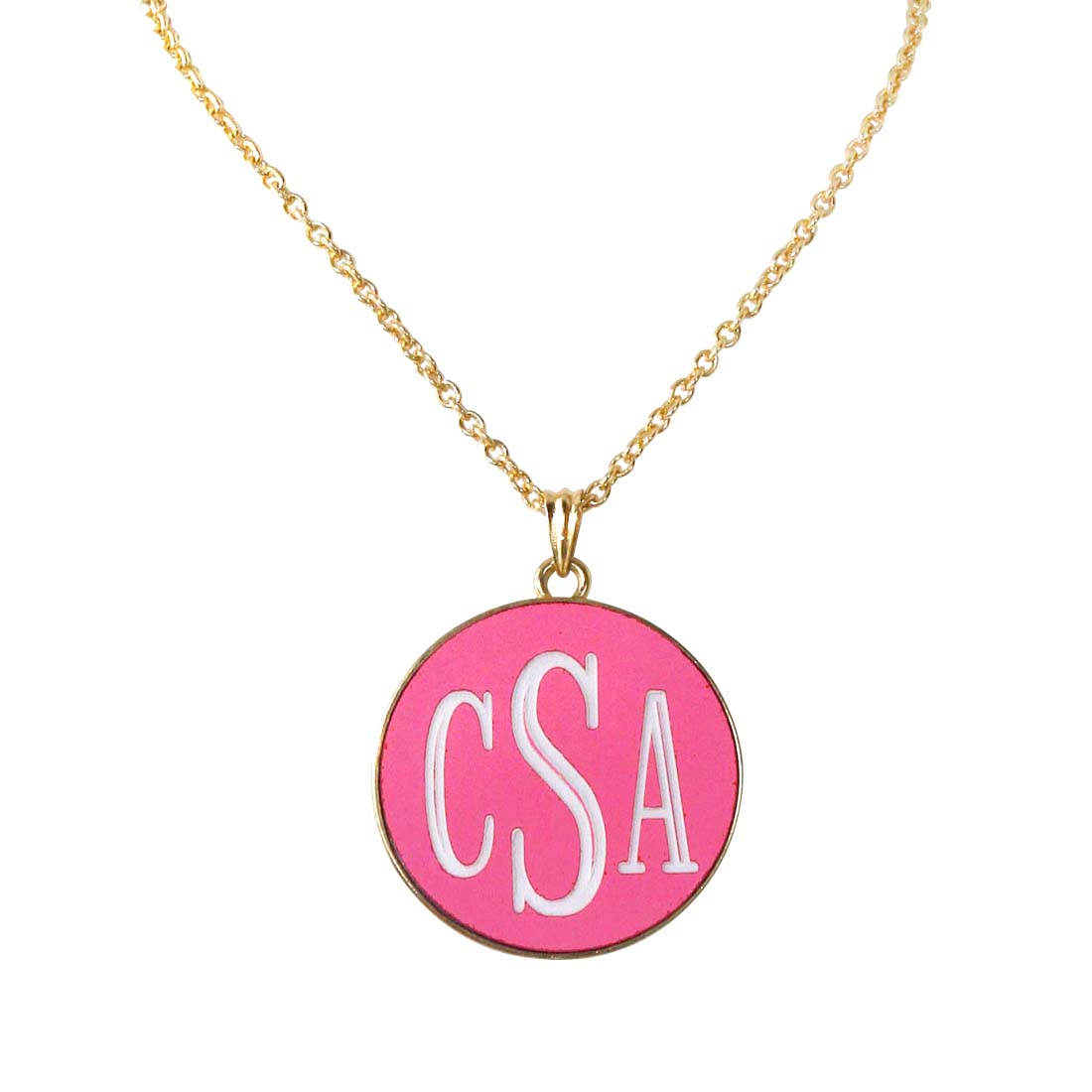 Hot Pink Josie Necklace - Gold Plated Chain