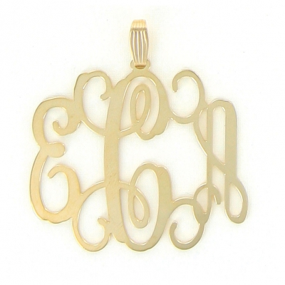 Floating Monogram Gold Necklace