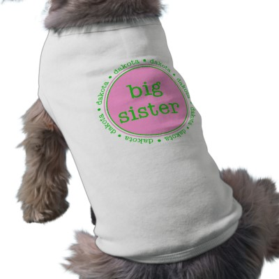 Personalized Dog Tee - Big Sister