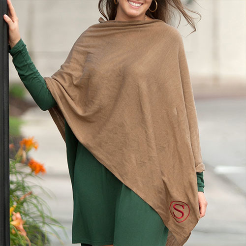 Taupe Chelsea Poncho