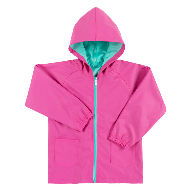 Hot Pink Kids Rain Jacket