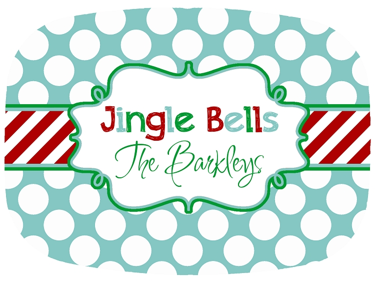 Personalized Melamine Platter - Jingle Bells