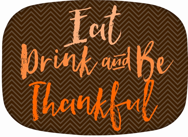 Personalized Melamine Platter - Eat, Drink & Be Thankful