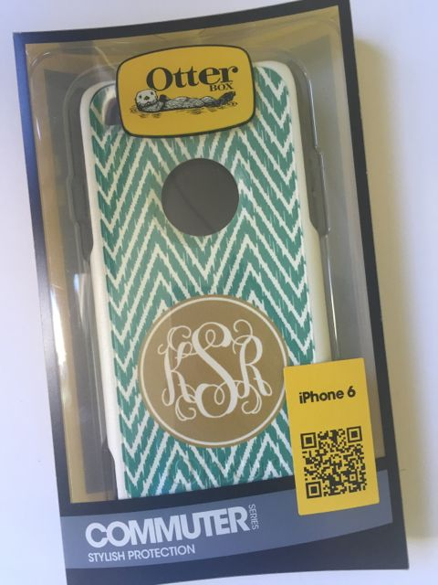 Sample Sale Otterbox Commuter iPhone 6 Monogram: KSR