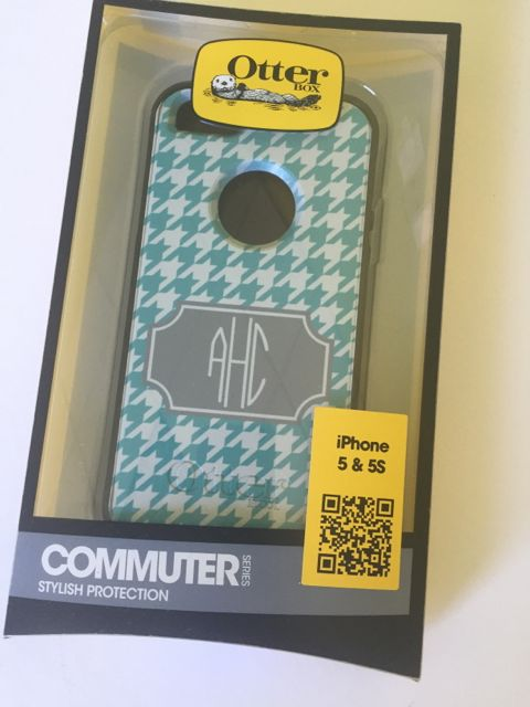Sample Sale Otterbox Commuter iPhone 5/5s Monogram: AHC