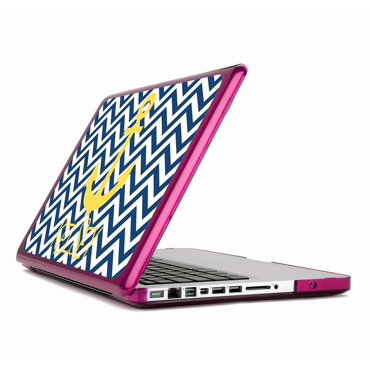 Monogrammed Speck Macbook Cases - Chevron + Anchor