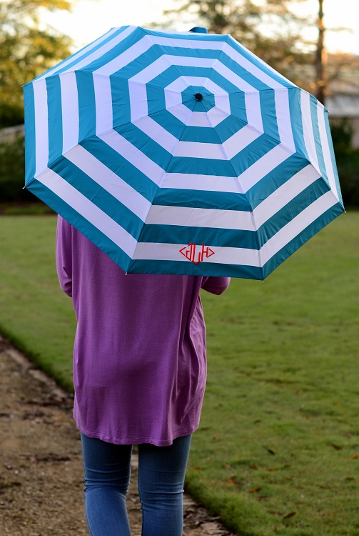 Aqua Stripes Umbrella