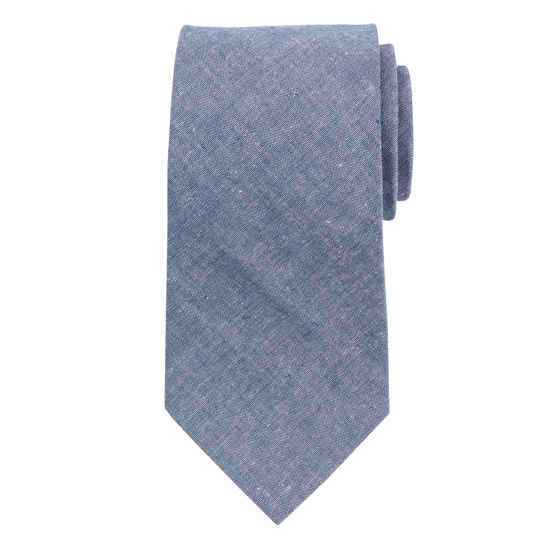 Monogrammed Chambray Tie