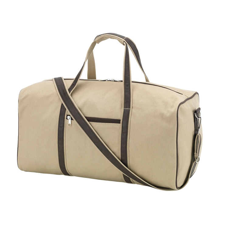 Brown Canvas Dawson Duffel Bag