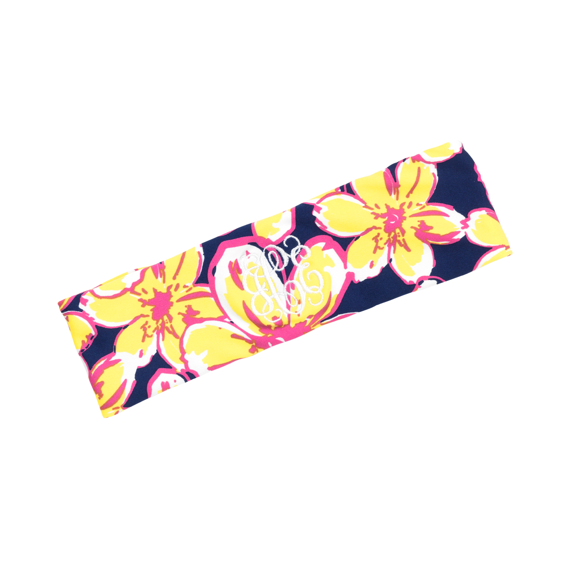 Monogrammed Beach Floral Active Headband