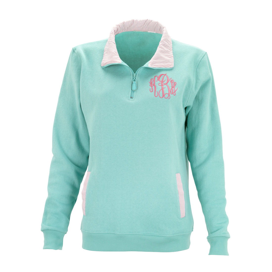 Mint  Pullover - Pinstripe