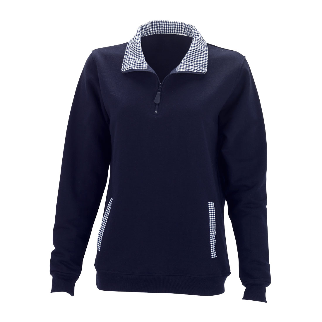 Navy Pullover - Gingham