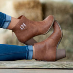 Ashlyn Brown Ankle Boots