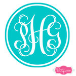 Double Circle Monogram Decal