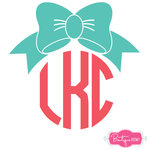 Bow Monogram Decal