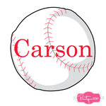 Personalized Baseball Vinyl Decal