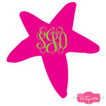 Starfish Monogram Decal