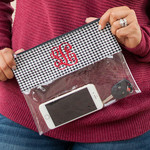 Houndstooth Clear Zip Pouch