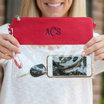 Red Clear Zip Pouch