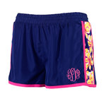Monogrammed Beach Floral Active Shorts