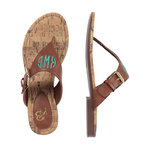 Monogrammed Brown Natalie Sandals