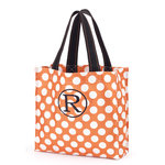 Orange Dot Halloween Trick or Treat Tote