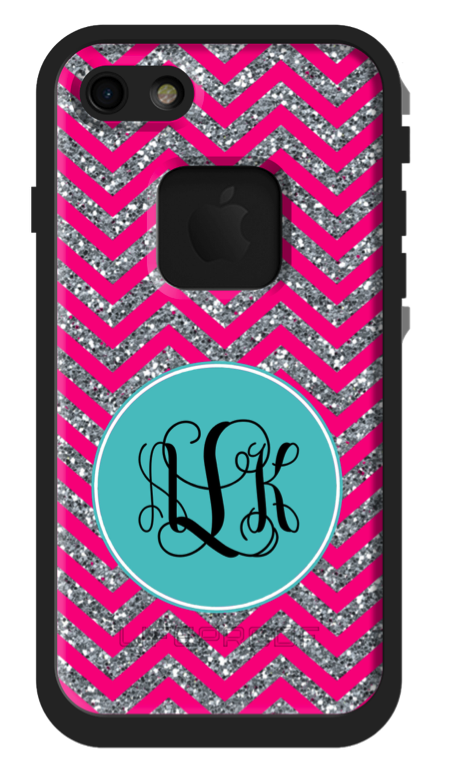 chevron glitter custom phone case