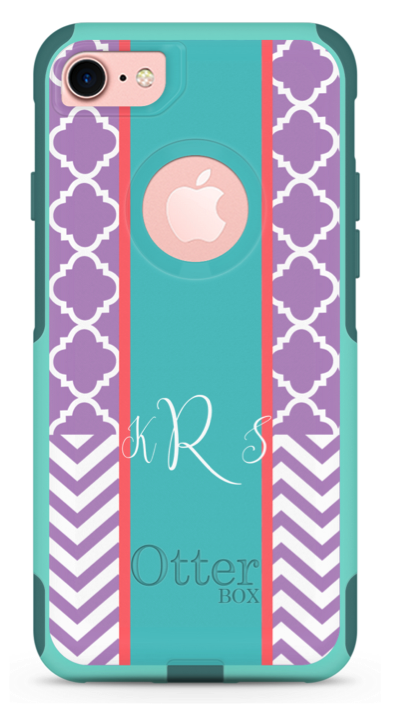 clover and chevron phone case