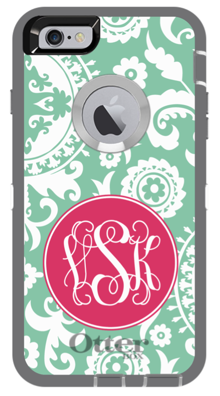 medallion monogram phone case