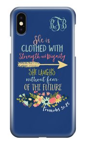 Proverbs 31:25 Case Mate Barely There iPhone X Case